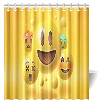 Image Unavailable Not Available For Color InterestPrint Emoji Shower Curtain
