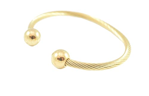 Amazon Com Stainless Steel Twisted Cable Wire Golf Cuff Bangle