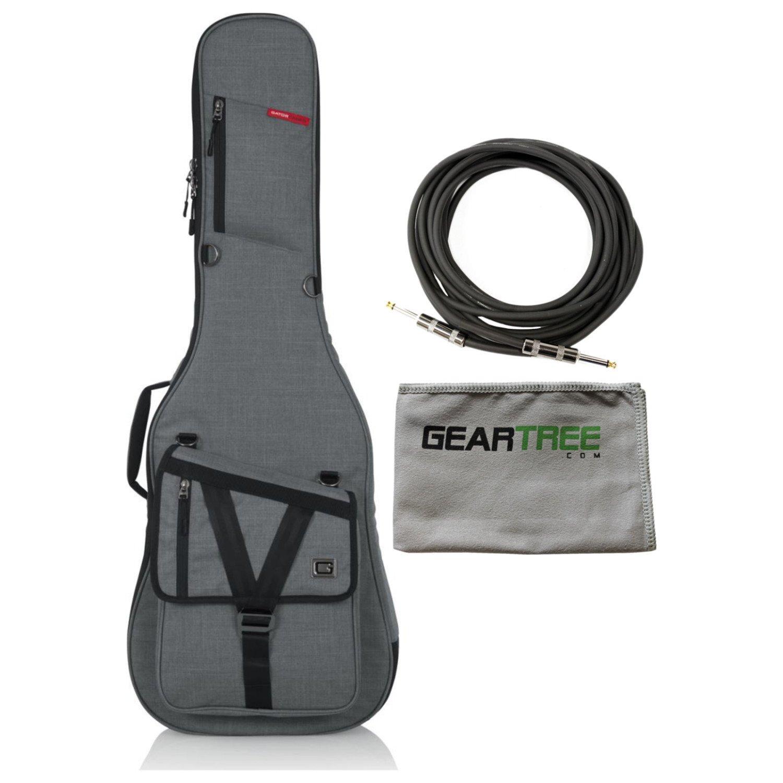 Gator GT-ELECTRIC-G GRAY Transit Electric Guitar Gig Bag with Light Grey Exterio 4334240903