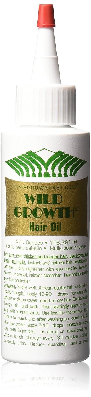 Wild Growth Hair Oil Hair Grow Faster 4 Oz WILD GROWTH CO. 6.17218E+11