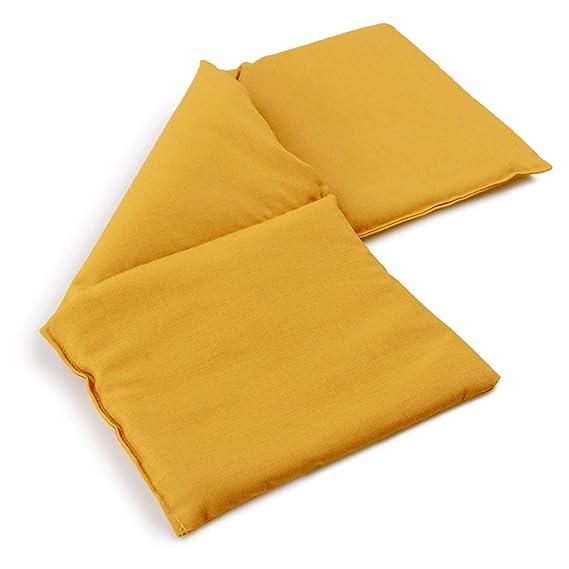 Almohada térmica compartimentado en 3 con semillas de lino 20x50cm ...