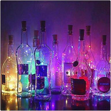LED USB Cork Shaped Night Light Starry Fairy Light Wine Bottle Lamp Xmas Decor