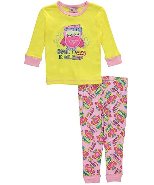 1000% Cute - Pijamas enteros - para bebé niña multicolor Yellow Multi 24 Meses