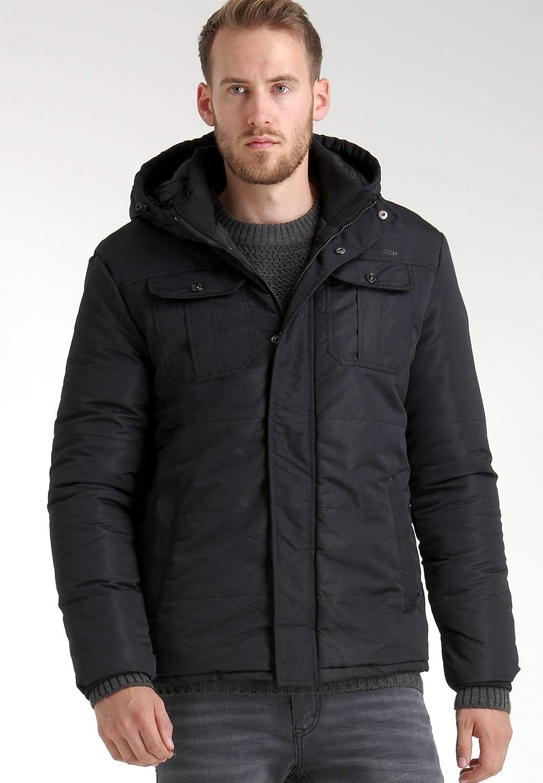 Mens Jacket Crosshatch Parka Hoodie Padded Coat BEEKHAM Lined Winter Casual New