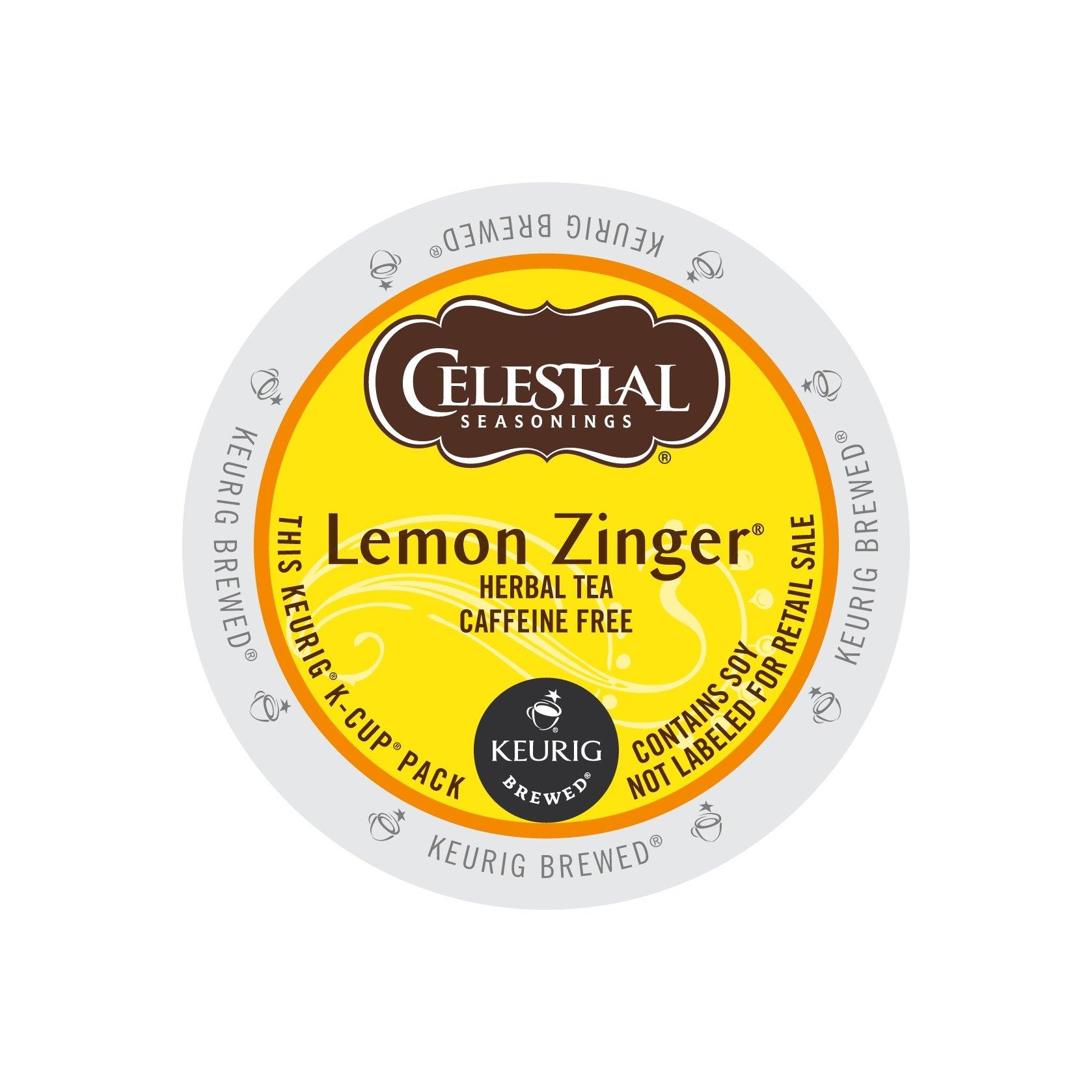 Celestial Seasonings Lemon Zinger Tea, 0.11 oz (12 count),Net Wt 1.3 oz (Pack of 6)