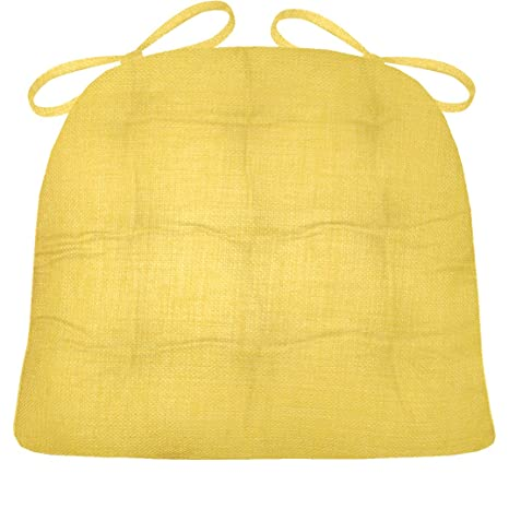 Charmant Barnett Products Wrought Iron Chair Cushion   Rave Yellow Gold Solid Color    Medium   Indoor