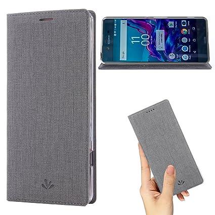 Amazon.com: Sony Xperia Caso, L1 cartera de piel Funda con ...