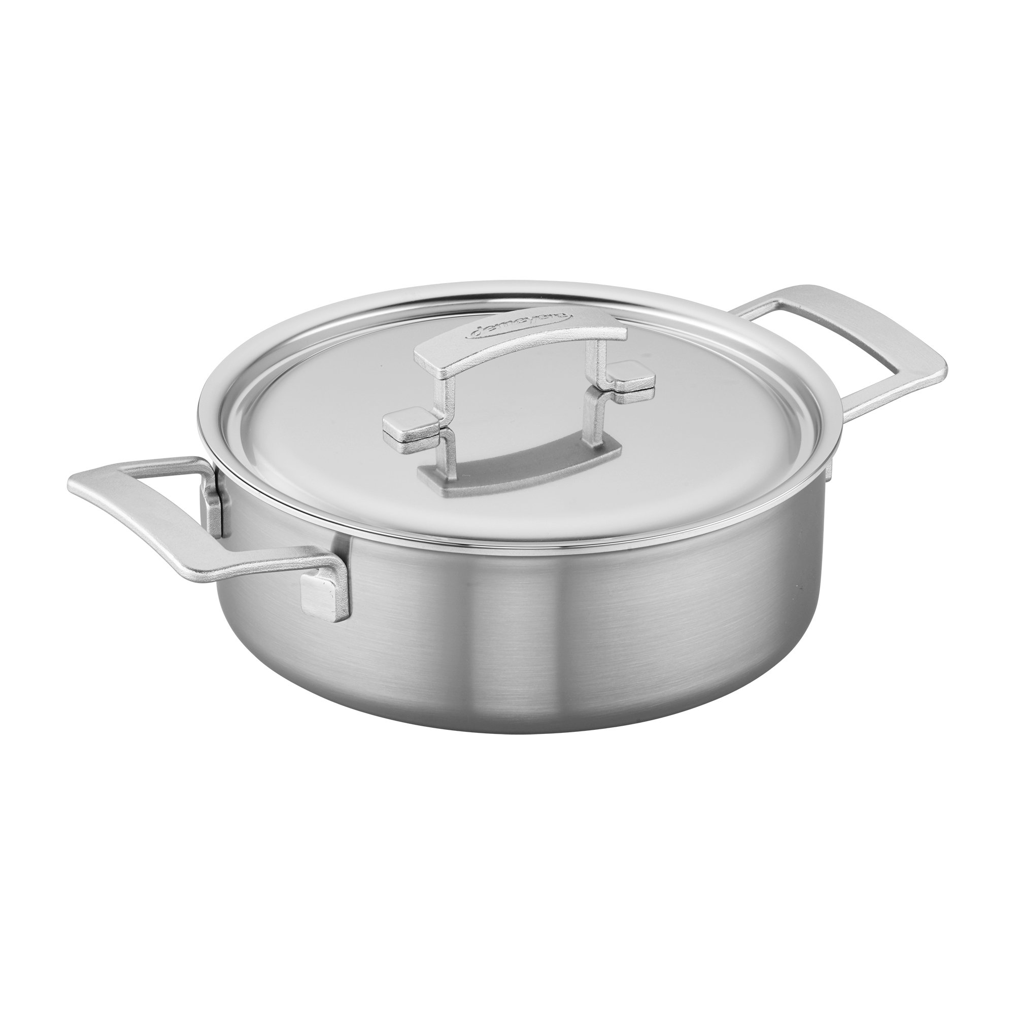 Demeyere NN Industry 5-Ply 4-qt Stainless Steel Deep Saute Pan, Silver