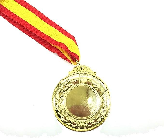 Durabol 12 Medalla Deportiva Metal 5 cm Oro+Cinta España: Amazon.es: Deportes y aire libre