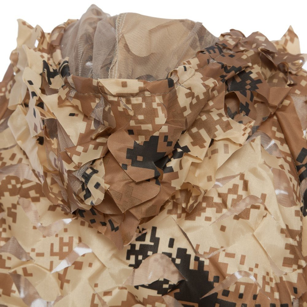 Durable Oxford Outdoor Woodland Sniper Ghillie Suit Kit Cloak Military 3d Leaf - Tan by Camp (Image #3)