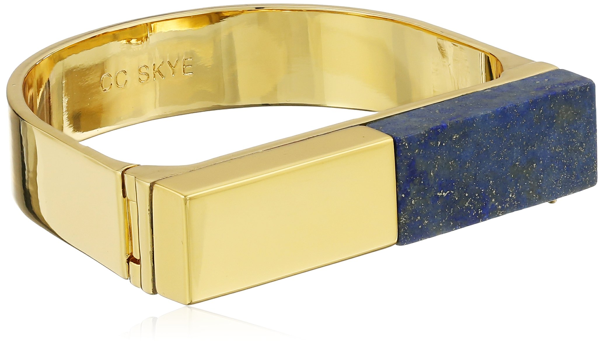 CC Skye Gold and Lapis The Platform Cuff Bracelet