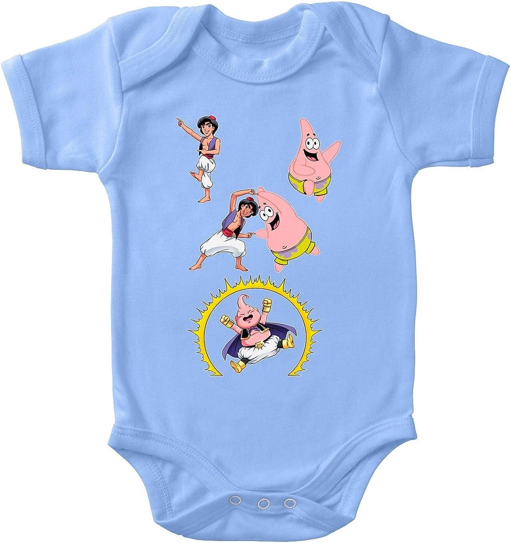Ref:1111 Spongebob Schwammkopf - Aladdin Parodie Aladdin Lustiges Blau Baby Strampler Majin Boo Patrick Star und Aladdin OKIWOKI Spongebob Schwammkopf