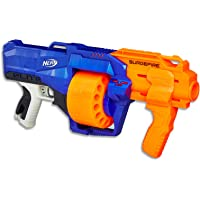 Nerf Elite - Surgefire Blaster inc 15 Official Darts & Drum - Kids Toys & Outdoor Games - Ages 8+