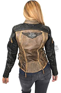 e19306ae67f0 Harley-Davidson Women s Triple Vent System Leather Biker Jacket ...
