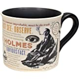 The Unemployed Philosophers Guild Sherlock Holmes Coffee Mug - Holmes Quotes, Rules of Deduction, Intriguing Images, and Sidney Pagets' Portrait - Comes in a Fun Gift Box