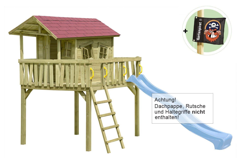 Stelzenhaus Maxi-Fun Spielhaus für Kinder aus Holz von Gartenpirat