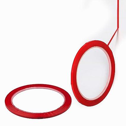 TRIXES Packl de 2 cintas autoadhesivas de pizarra blanca de 40 m - Suministros de oficina - Rojo