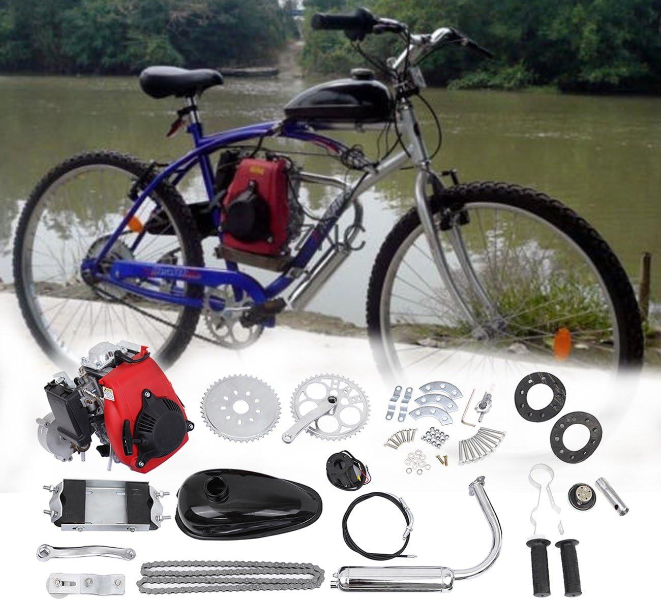 Ambienceo 49 cc 4 del Ciclo de pedal Gasolina Gas motor Kit Motor bicicleta Plug-It para herramientas para Motorizado bicicleta: Amazon.es: Coche y moto