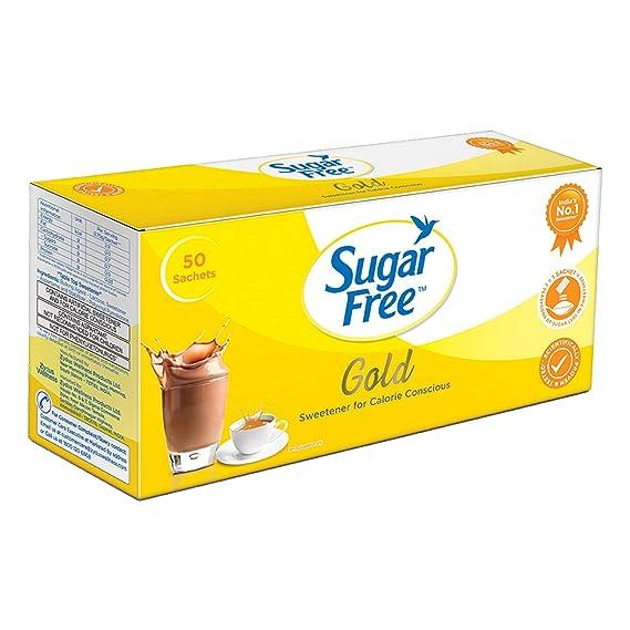 Sugarfree Gold Low Calorie Sweetner - 50 Sachet