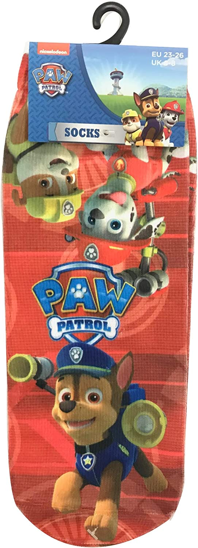 2 Pair Paw Patrol Official Crew Childrens Socks