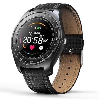 Amazon.com: Auntwhale Carbon Fiber Strap Smart Watch 1.22 ...