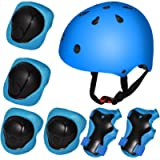 Kiwivalley Kids Boys and Girls Outdoor Sports Protective Gear Safety Pads Set [Helmet Knee Elbow Wrist] for Bicycle…