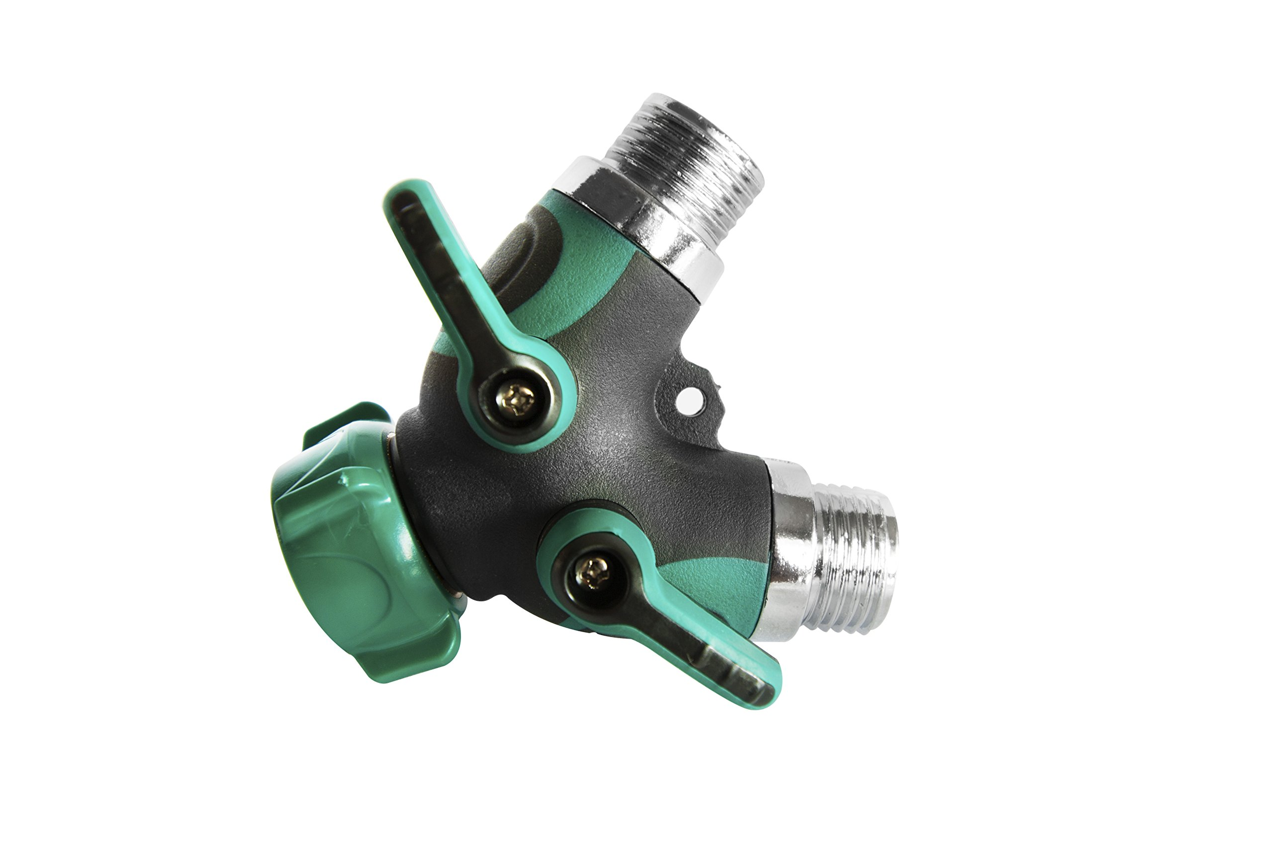 Josy&co. 2 Way, Y Valve Water Hose Splitter - Solid Construction With Comfortable Rubberized Grip.