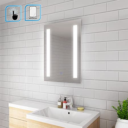 Elegant 450 X 600mm Rectangular Backlit Led Illuminated Bathroom