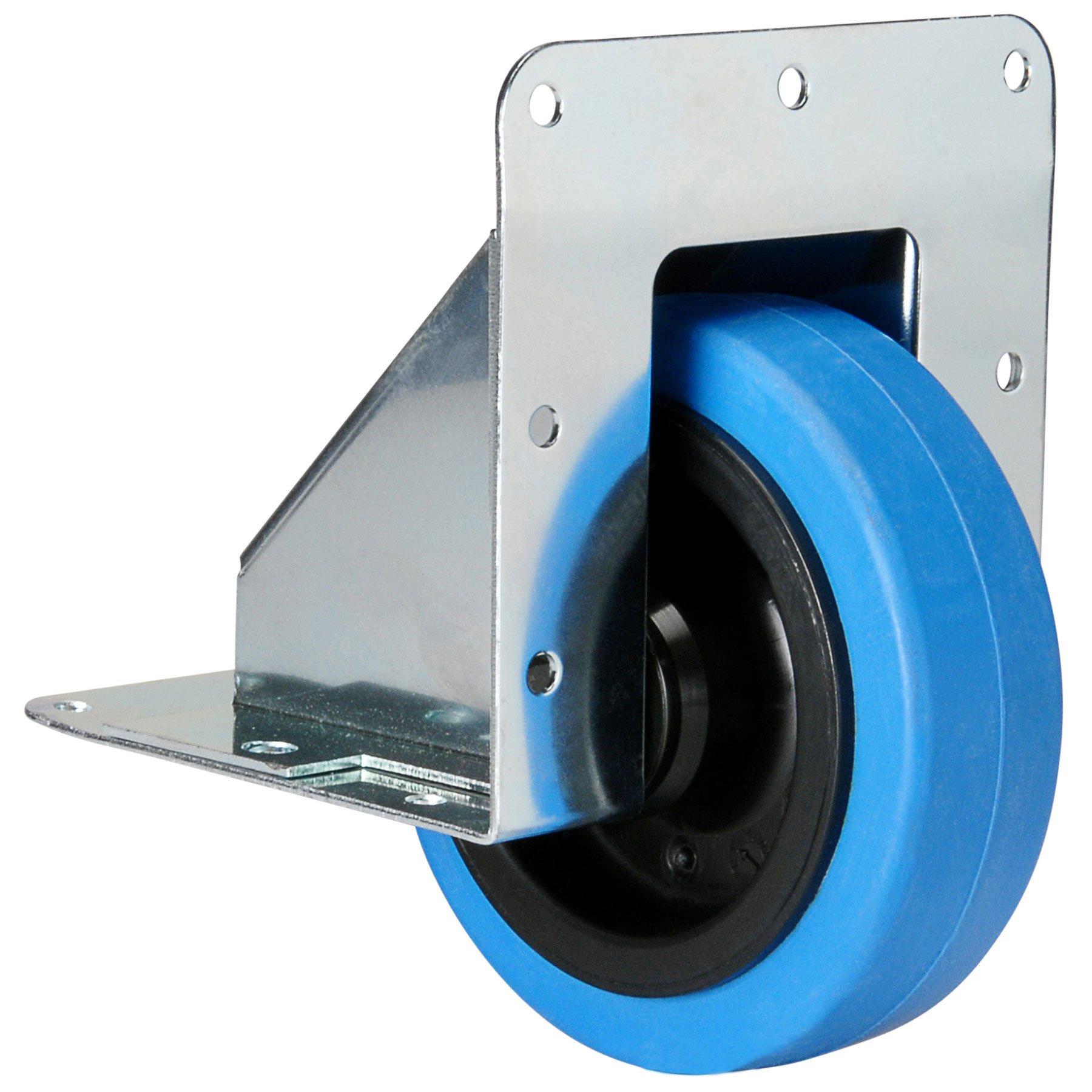 Penn-Elcom W2100 4'' Recessed Caster w/Blue Wheel 330 lb.