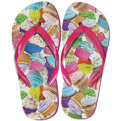 iscream Women's 'FunPrints' Beach and Camp Flip Flops - Cupcakes