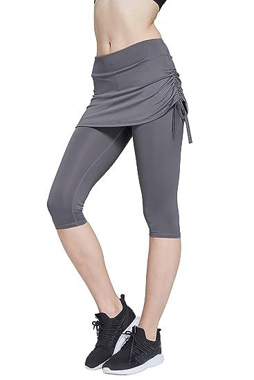 3fc4245f1ea HonourSport Women Capri Swim Skirt with Leggings Tennis Tights Active  Running Bottoms