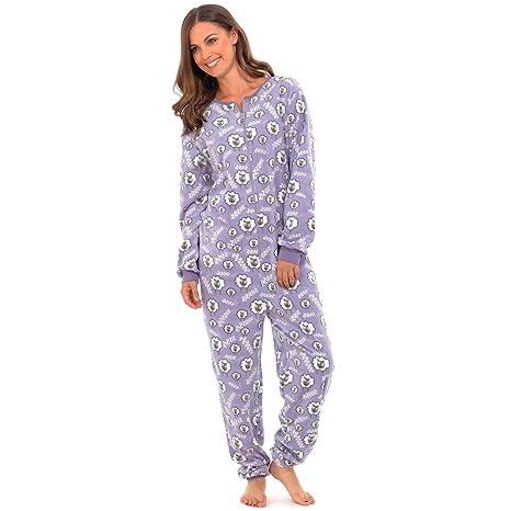 Mujer oveja imprimir Onesie Todas En Uno Pelele de pijama PJ ropa varios colores (S