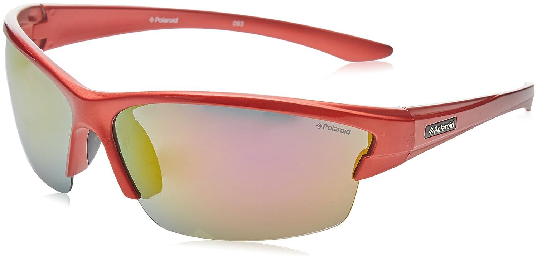 859f8670452 Polaroid Sport Sunglasses P7413 33W JB Shiny Red Grey Silver Mirror  Polarized at Amazon Women s Clothing store