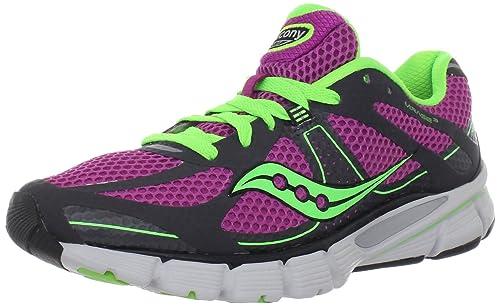 Zapatillas para correr Mirage 3 para mujer, gris / morado / limo, 11.5 M US: Amazon.es: Zapatos y complementos