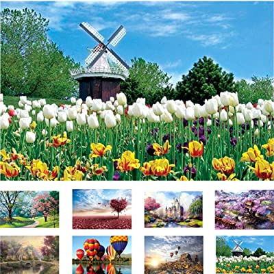 MEETWAY Puzzles for Adults Kids 1000 Pieces Landscape Puzzle Set Large Puzzle Game Toys Gift Home Decoration: Sports & Outdoors
