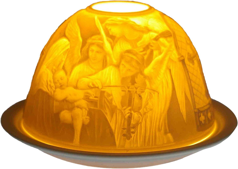 Multicolor Him Angels Concert Cristal//portavelas candelabros Cer/ámica 12x12x8 cm