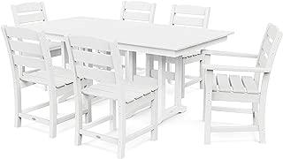 product image for POLYWOOD Lakeside Dining Set, White