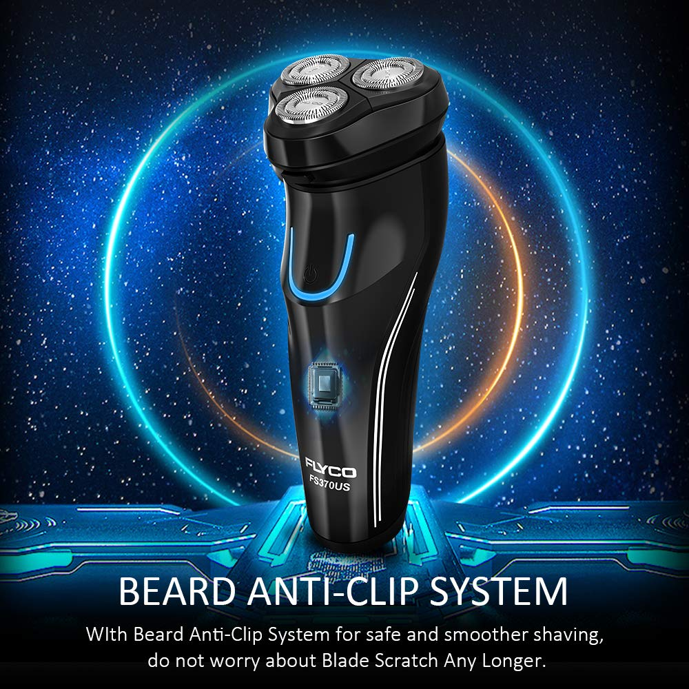 Mens Electric Razor, Wet & Dry Razors for Shaving Electric Cordless With Pop-up Trimmer