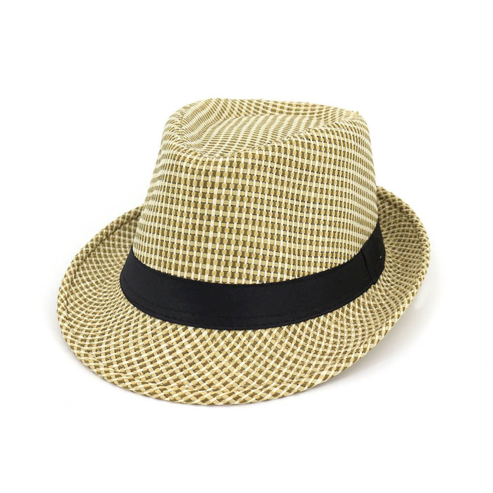 785c0018cbe Amazon.com  Gaojuan Straw Hat Ms. Male Lovers Hat Male and Female Jazz Hats  Outdoor Travel Straw Sunhat Foldable Topper Handmade Straw Hat Sun Cap  (Color ...