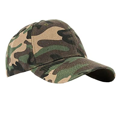 b3e1bf8982a ACVIP Men s Camouflage Cotton Baseball Cap Sun Hat (Green)  Amazon ...