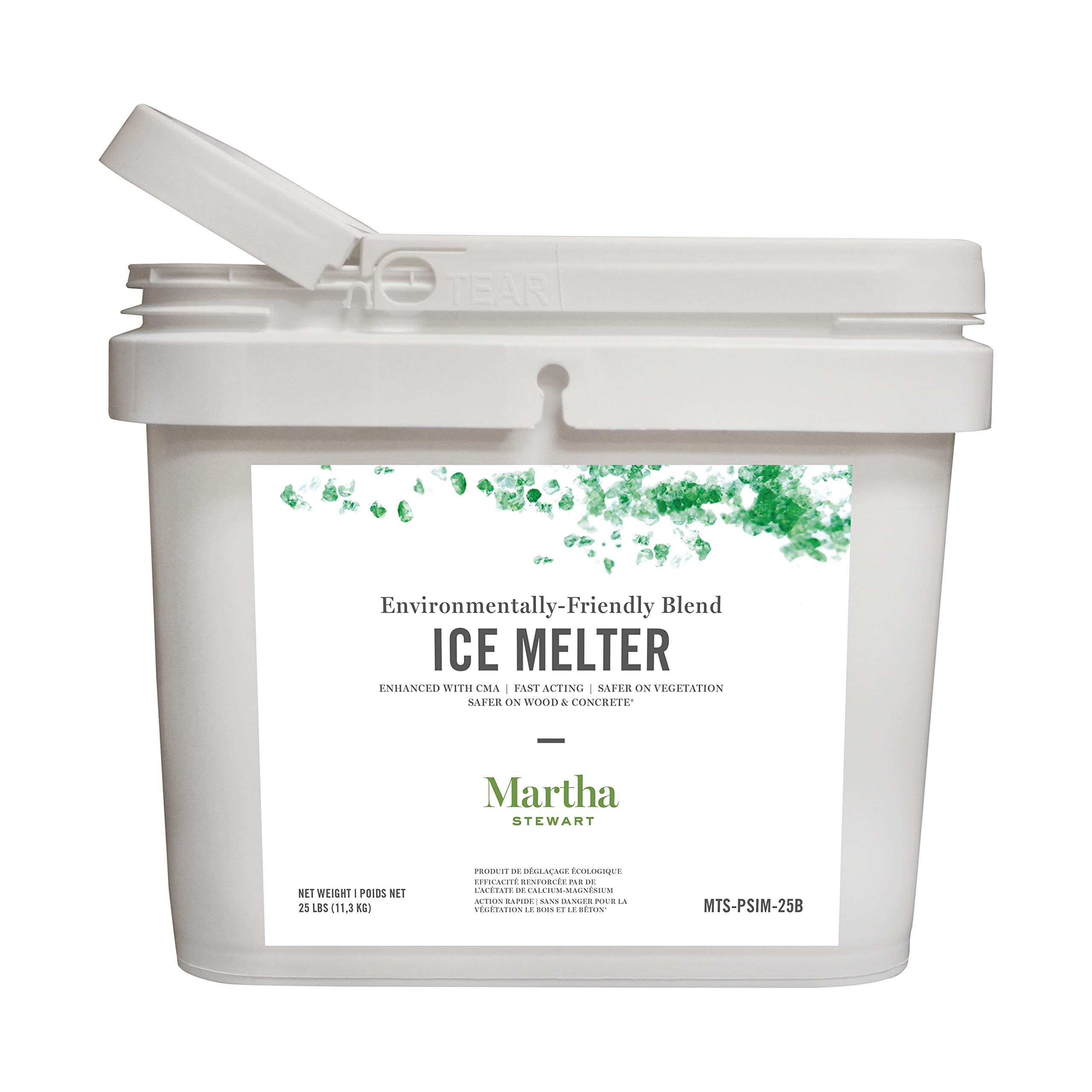 Martha Stewart 25LB Blended Ice Melter | Resealable Bucket/Scoop | Environmentally Friendly | Pet Safe by Snow Joe