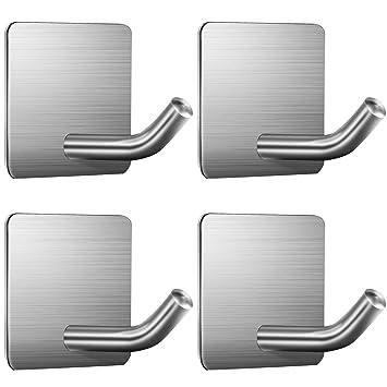 Amazon.com: ZUNTO - Ganchos adhesivos para toallas, ganchos ...