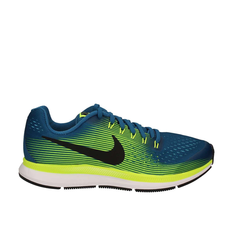 Nike Zoom Pegasus 34 GS, Zapatillas de Running para Niñas 4 5|Azul-amarillo-blanco