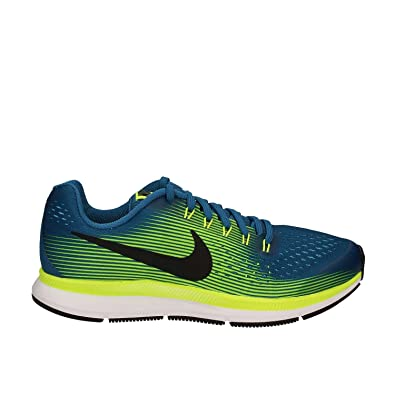 Nike - Zoom Pegasus 34 GS - 881953400 - Color: Blue-White-Yellow
