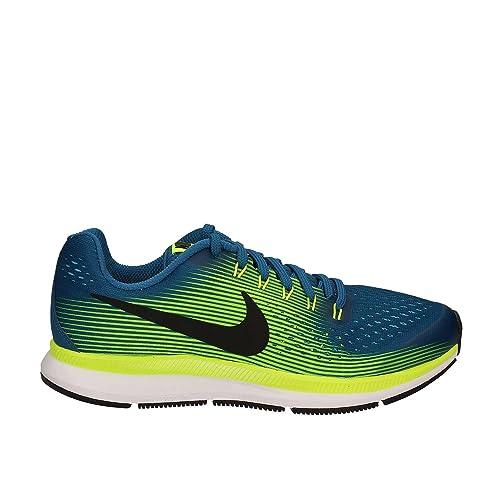 surco Sensación Negligencia médica  Buy Nike - Zoom Pegasus 34 GS - 881953400 - Color: Blue-White-Yellow -  Size: 6. 5 at Amazon.in