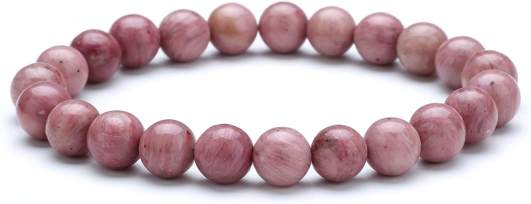 Rhodonite Rodochrosite Stretch Bracelets beads 8mm