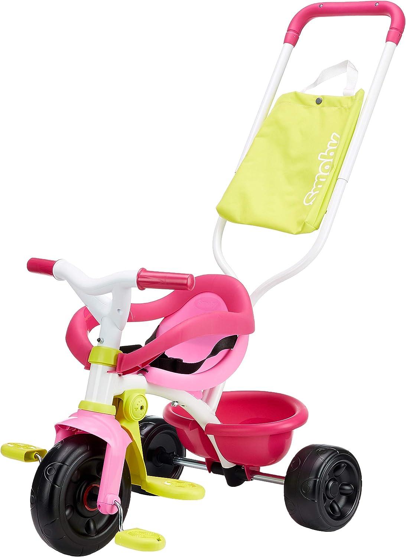 Triciclo Be Fun Confort rosa con bolso y volquete (Smoby 740406)