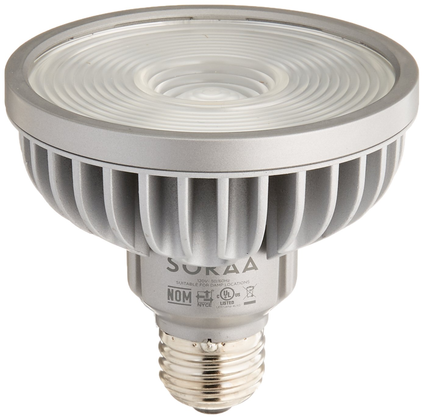 Bulbrite SP30S-18-60D-927-03 SORAA 18.5W LED PAR30S 2700K VIVID 60° Dimmable Light Bulb, Silver
