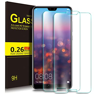 KuGi Huawei P20 Pro Screen Protector, 9H Hardness HD Clear Bubble Free  Installation High Responsivity Tempered Glass Screen Protector for Huawei  P20