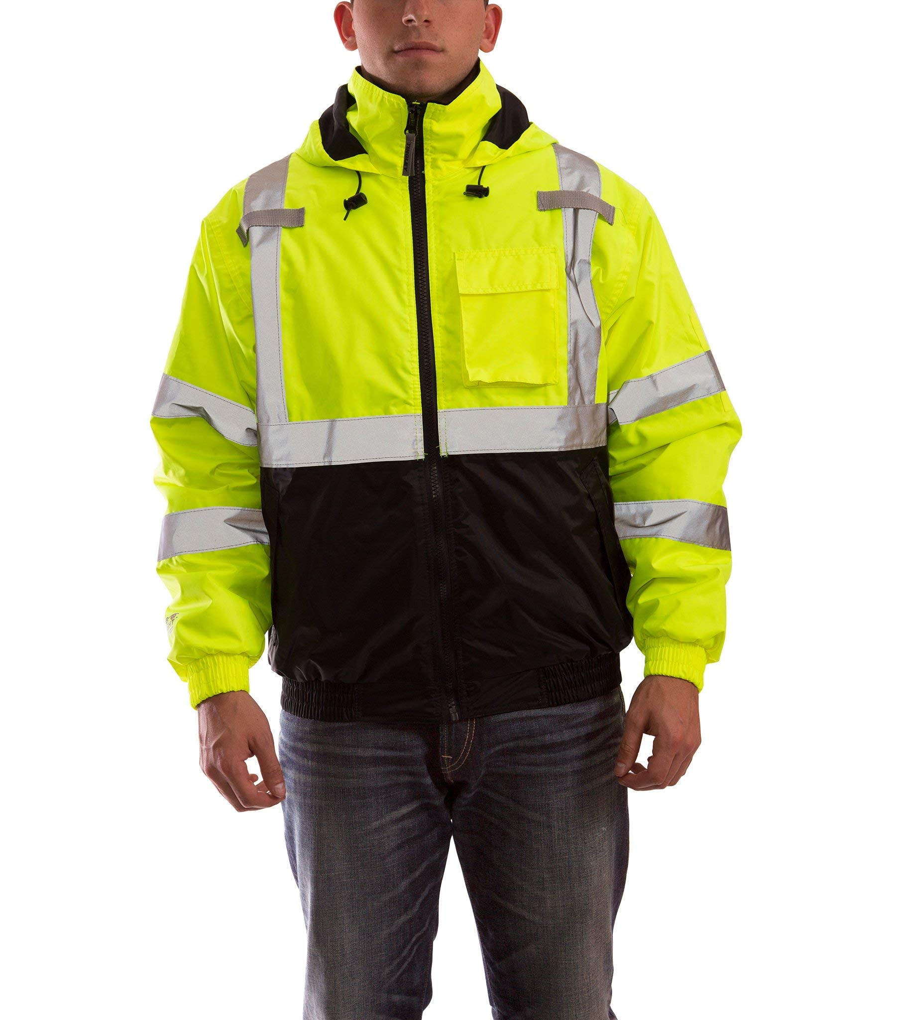 Bomber Ii High Visibility Waterproof Jacket, Yellow, L by TINGLEY